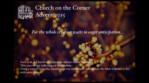 Our Advent project is on the theme of Anticipation