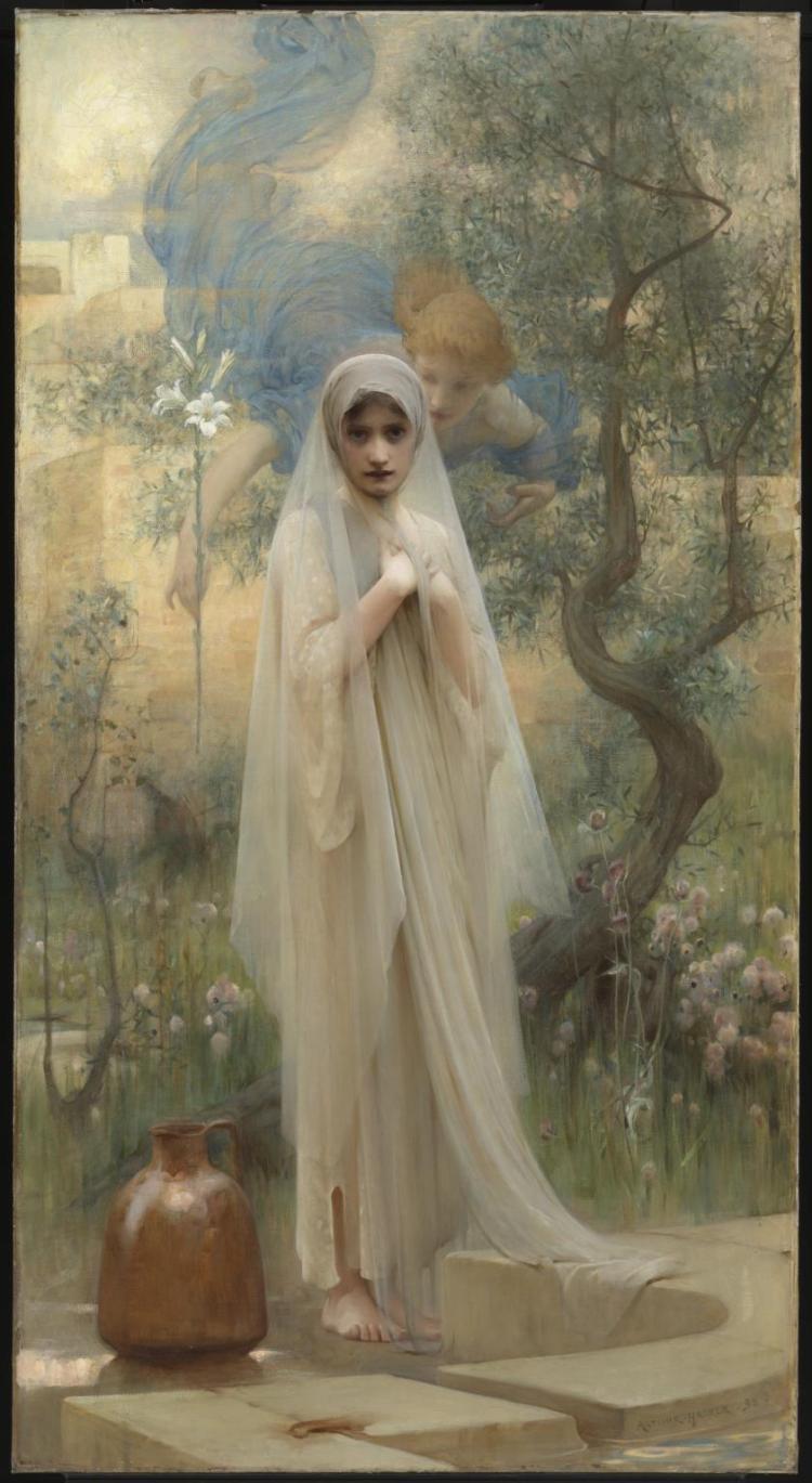 The Annunciation 1892 by Arthur Hacker 1858-1919
