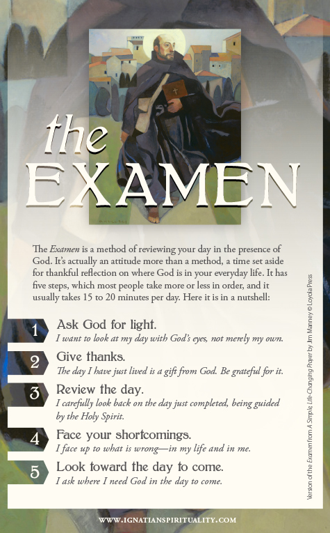 Examine prayer card