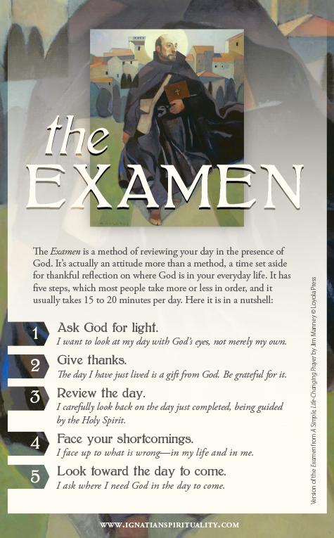 Examine prayer card